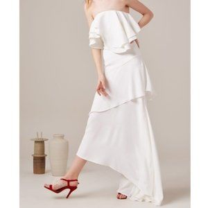 NWT C/MEO Collective With You Gown Dress White